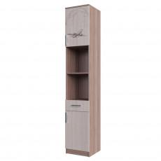 Penal SV - Мебель ГОРОД (45 cm) cu sertare si usa, Ясень шимо тёмный / Ясень шимо светлый