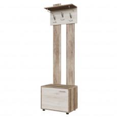 Cuier de perete SV - Мебель ВИЗИТ 1 с обувницей (60 cm), Каньон светлый / Гикори светлый