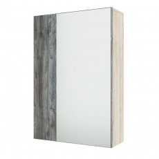 Dulap de perete SV - Мебель ВИЗИТ 1 (55 cm) ( с зеркалом), Дуб Сонома / Сосна Джексон