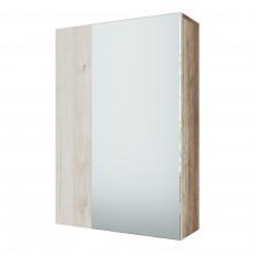 Dulap de perete SV - Мебель ВИЗИТ 1 (55 cm) ( с зеркалом), Каньон светлый / Гикори светлый