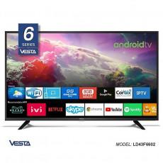 """Televizor LED 43 """" Vesta LD43F6602, Black"""