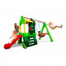 Complex de joc Little Tikes 171093E13 Spatiu de joaca Super cu tobogan si 2 leagane, Зеленый