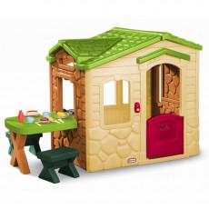 Complex de joc Little Tikes 172298E13 Детский домик Picnic с колокольчиком и аксессуарами, Разноцветный