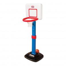 Complex de joc Little Tikes 620836E3 Set cos baschet reglabil pe inaltime 120 cm, Синий/ Красный/Белый