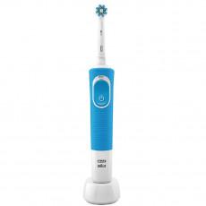 Periuță de dinți electrică Braun Vitality 100 Cross Action, White/Blue