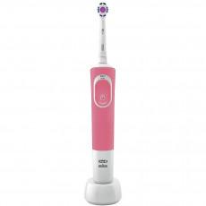 Periuță de dinți electrică Braun Vitality 100 Cross Action, White/Pink