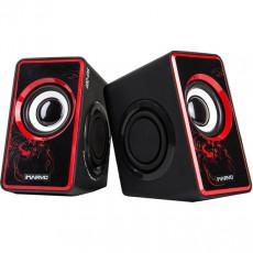 Boxe 2.0 Marvo SG-201, 6 W, Black/Red