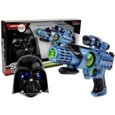 Leantoys 7095 Set de joaca cu masca si pistol laser cu sunete