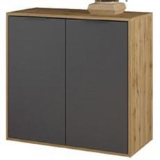 Comodă Sokme Нитро 2Д (80.1 cm), Дуб вотан / серый