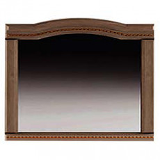 Oglinda de perete Sokme Венера Люкс 100 (100 cm) , Орех / Орех Тисненый