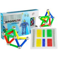 Leantoys 659 Set constructor magnetic Magnastix 188 elemente