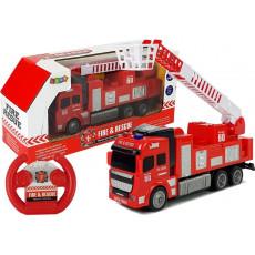Leantoys 7222 Jucarie Masina de pompieri cu telecomanda RC