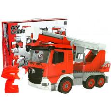 Leantoys 7250 Jucarie Masina Pompieri DIY cu telecomanda RC