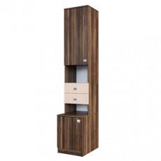 Penal SV - Мебель ГАММА 15 (40 cm) открытый, Слива Валис / Дуб Млечный