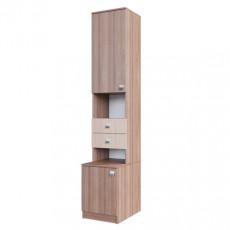 Penal SV - Мебель ГАММА 15 (40 cm) открытый, Ясень Шимо тёмный / Ясень Шимо светлый