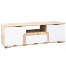 Tumbă SV - Мебель НОТА 25 (140 cm), Дуб сонома / Белый глянец