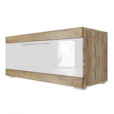 Comoda TV SV - Мебель Ницца (110.1 cm), Истанбул/ Белый глянец