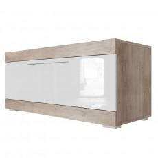 Comoda TV SV - Мебель Ницца (110.1 cm), Каньон светлый / белый глянец