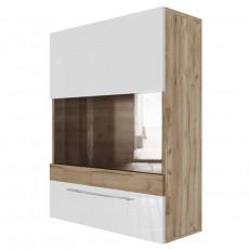 Dulap de perete SV - Мебель Ницца (70 cm) горизонтальный (700), Галифакс табак / белый