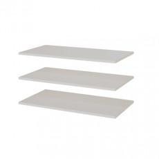 Rafturi pentru garderoba din 2 părți SV - Мебель Соло ( 768х16х408мм ) 3 шт, Белый