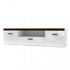 Comoda TV SV - Мебель Соло (160.1 cm), Белый / Белый глянец-Венге