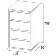 Comodă SV - Мебель Встроенный № 1 (44.5 cm), Ясень шимо темный