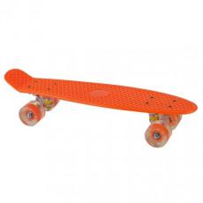 Skateboard Sport Skateboard (56 х 15) со светящимися колесами, Оранжевый