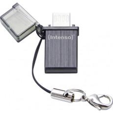 8 GB USB 2.0 Stick USB Intenso Mini Mobile Line, Black (4034303020942)