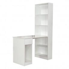 Dulap combinat Mobi Lite 10.01 (115.3 cm) со столом, Белый гладкий