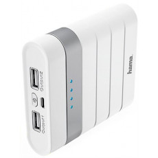 Power Bank 10 400 mAh Soft Touch, White