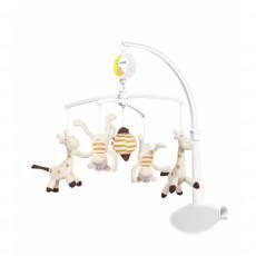 BabyOno 1367 Carusela muzicala pentru patuc - Maimute si Girafe