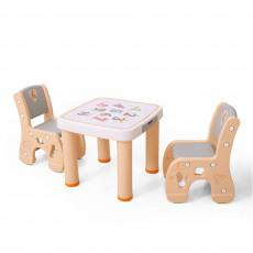 Hobby Tree HBS18110 Masuta cu 2 scaunele, Orange