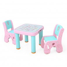 Hobby Tree HBS18110 Masuta cu 2 scaunele, Roz