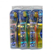 Periute de dinti clasice Dental Gold Power soft, Multicolor