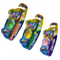 Periute de dinti clasice Dental DENTAL Soft Care Kids 3+, Multicolor