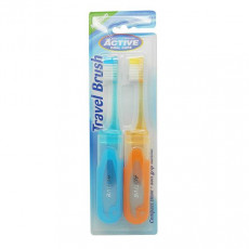 Set Periute de dinti Active Oral Care Travel 1+1, Multicolor