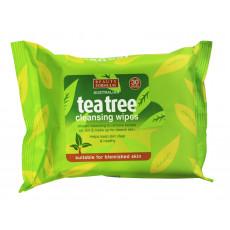 Beauty Formulas Tea Tree Face Cleansing Wipes 30 Pack - Servetele demachiante cu Arbore de Ceai