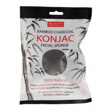 Beauty Formulas Bamboo Charcoal Konjac Sponge - Губка для умывания