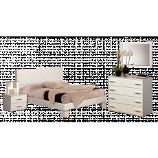 Set dormitor Олмеко Rozalia, вудлайн кремовый / Золотой ясень