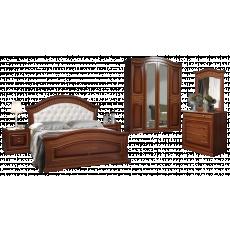 Set dormitor Sokme Venera Lux №1, Орех / Орех Тисненый