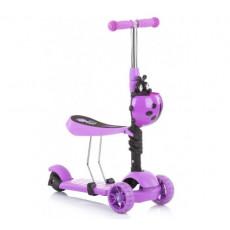 Scooter - bicicletă de echilibru Chipolino Kiddy Evo DSKIE0218VI, Violet
