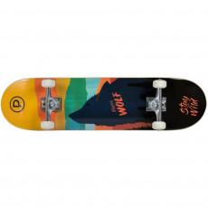 Skateboard PlayLife (Powerslide) Firce Wolf ( 880307), Черный/Рзноцветный