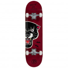 Skateboard PlayLife (Powerslide) Black Panther ( 880308), Черный/ Бордовый