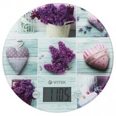 Весы кухонные Vitek VT-2426, Green/Flowers