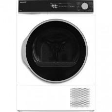 Uscător de rufe Sharp KDNHH8S8GW3EE, White/Black