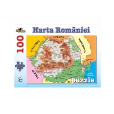 Noriel NOR4674 Puzzle Harta Romaniei 100 piese.