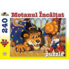 """Puzzle Noriel NOR4520 """"Motanul Incaltat"""", 240 piese. Colectia Povesti."""