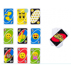 "Mattel DYC15 Joc de societate, cărți uno ""Uno"" Emoticoane"