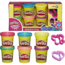 Hasbro A5417 Pasta de modelat Play Doh Sparkle 6 culori