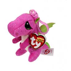 """Ty TY35031 Jucarie de plus-breloc """"Dragonul roz Darla"""" 8,5 cm"""